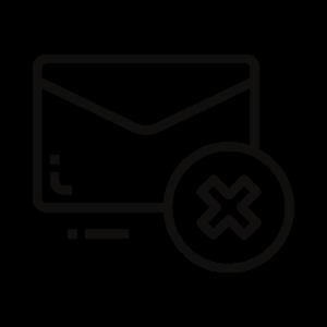 envelope cancel icon