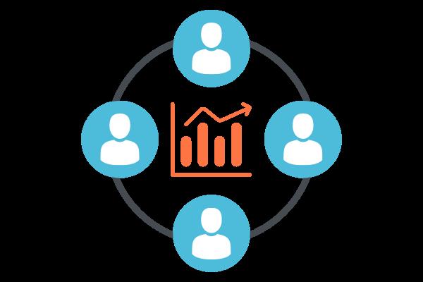 diagram illustration customer performance in marketing