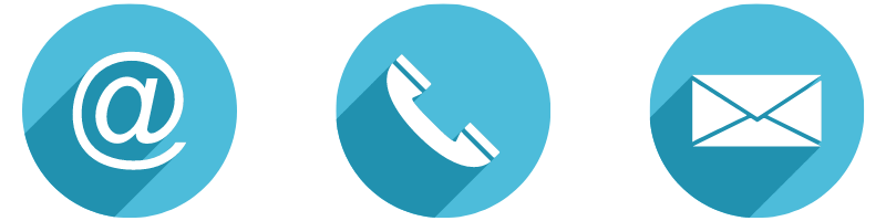 web, phone, and email contact icons