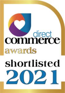 direct commerce award shortlisted badge
